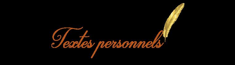 Textes-personnels